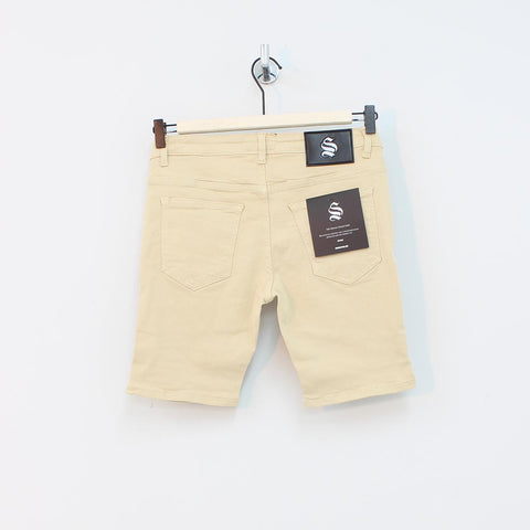 Sinners Attire Rip And Repair Shorts Sand - Pilot Netclothing