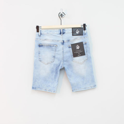 Sinners Attire Rip And Repair Shorts Denim - Pilot Netclothing