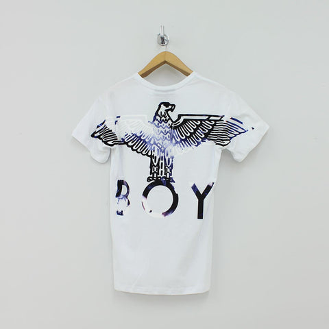 Boy London Flock Eagle T-Shirt White - Pilot Netclothing