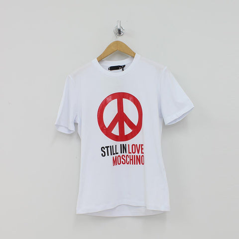 Moschino Still In Love T-Shirt White - Pilot Netclothing