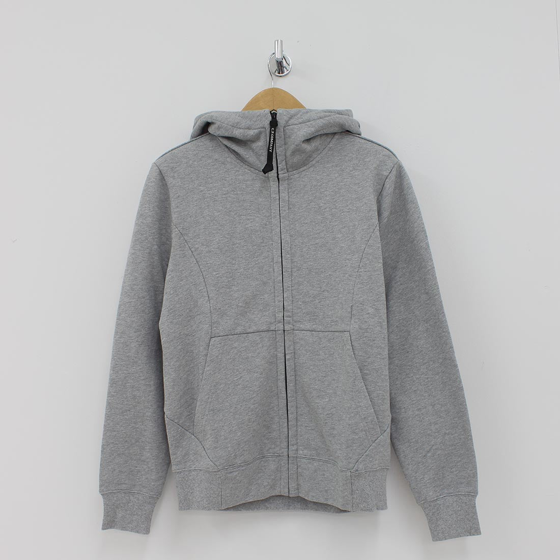 CP Company Lens Hooded Sweat Shirt Grey
