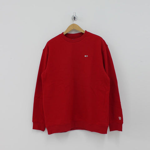 Tommy Hilfiger TJM Classic Crew Sweat Shirt Red - Pilot Netclothing