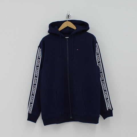 Tommy Hilfiger TJM Rib Logo Hooded Top Navy - Pilot Netclothing