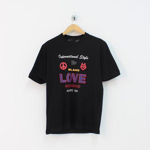 Moschino International Milano T-Shirt Black