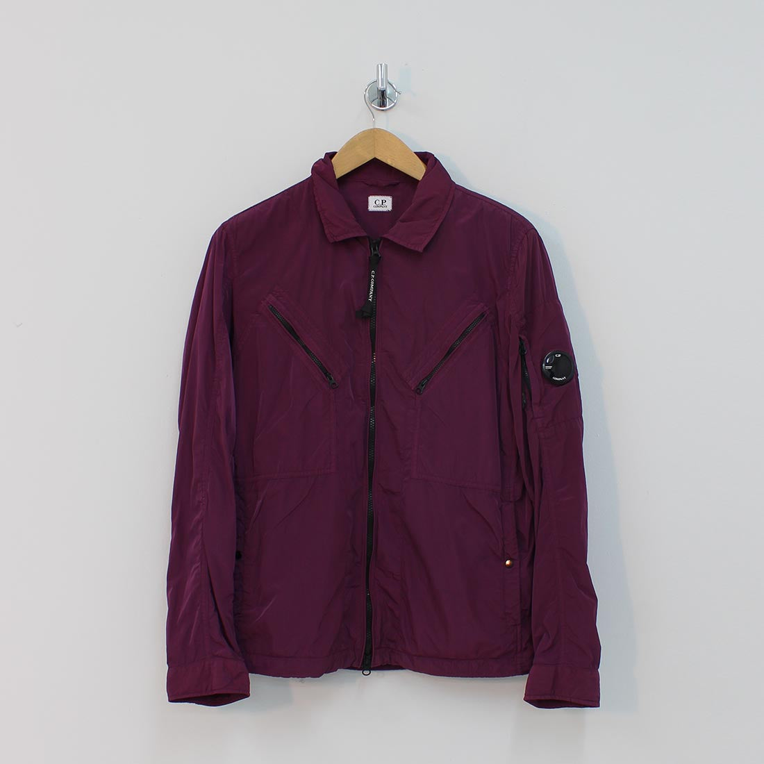 CP Company Arm Lens Over Shirt Purple