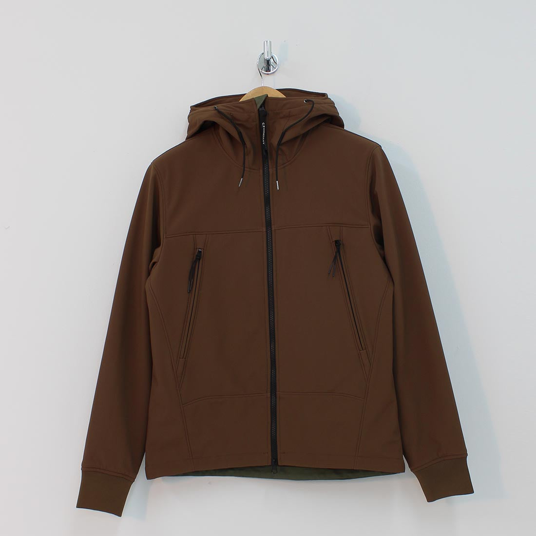 CP Company Lens Hooded Short Jacket Brown