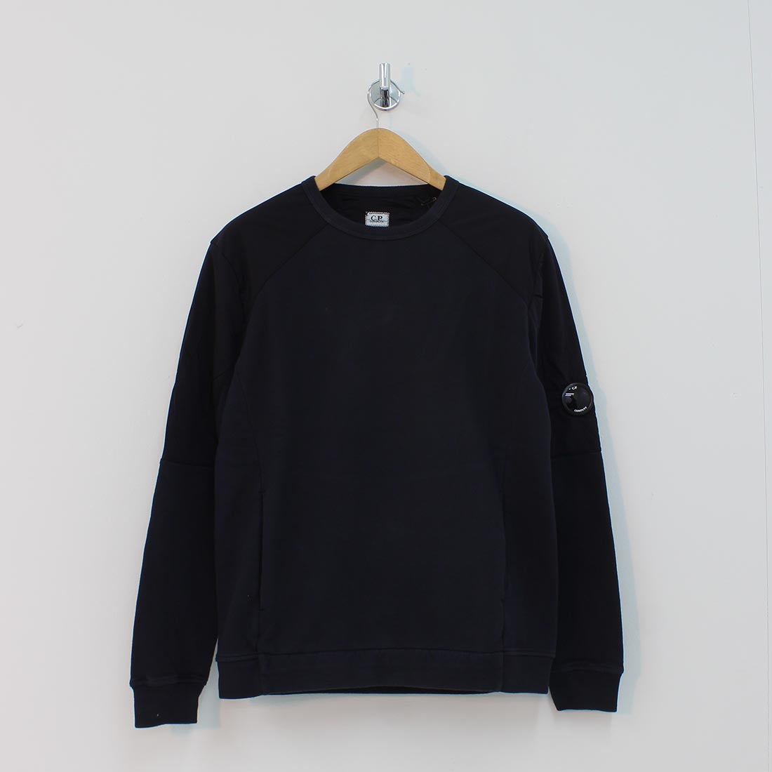 CP Company Arm Lens Panelled Crew Neck Sweat Navy