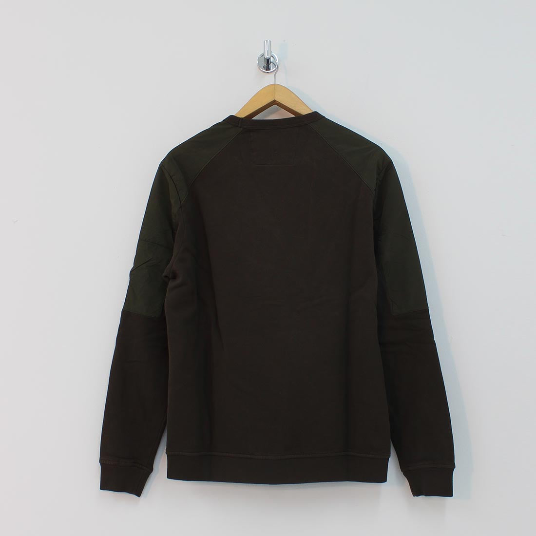 CP Company Arm Lens Panelled Crew Neck Sweat Khaki