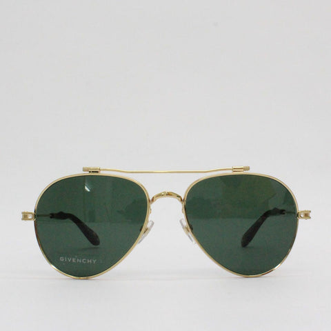 Givenchy 58QT Gold Frame Aviator Sunglasses Gold - Pilot Netclothing
