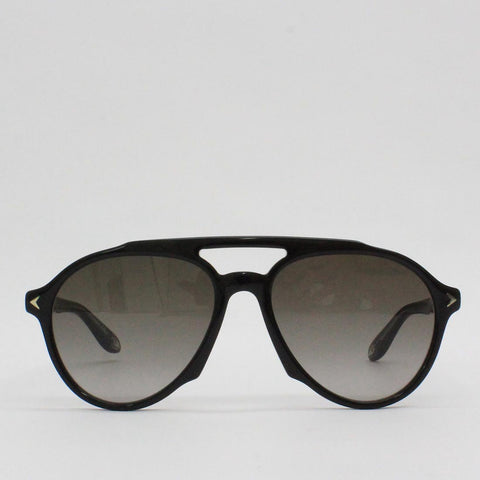 Givenchy 56HA Black Frame Aviator Sunglasses Black - Pilot Netclothing