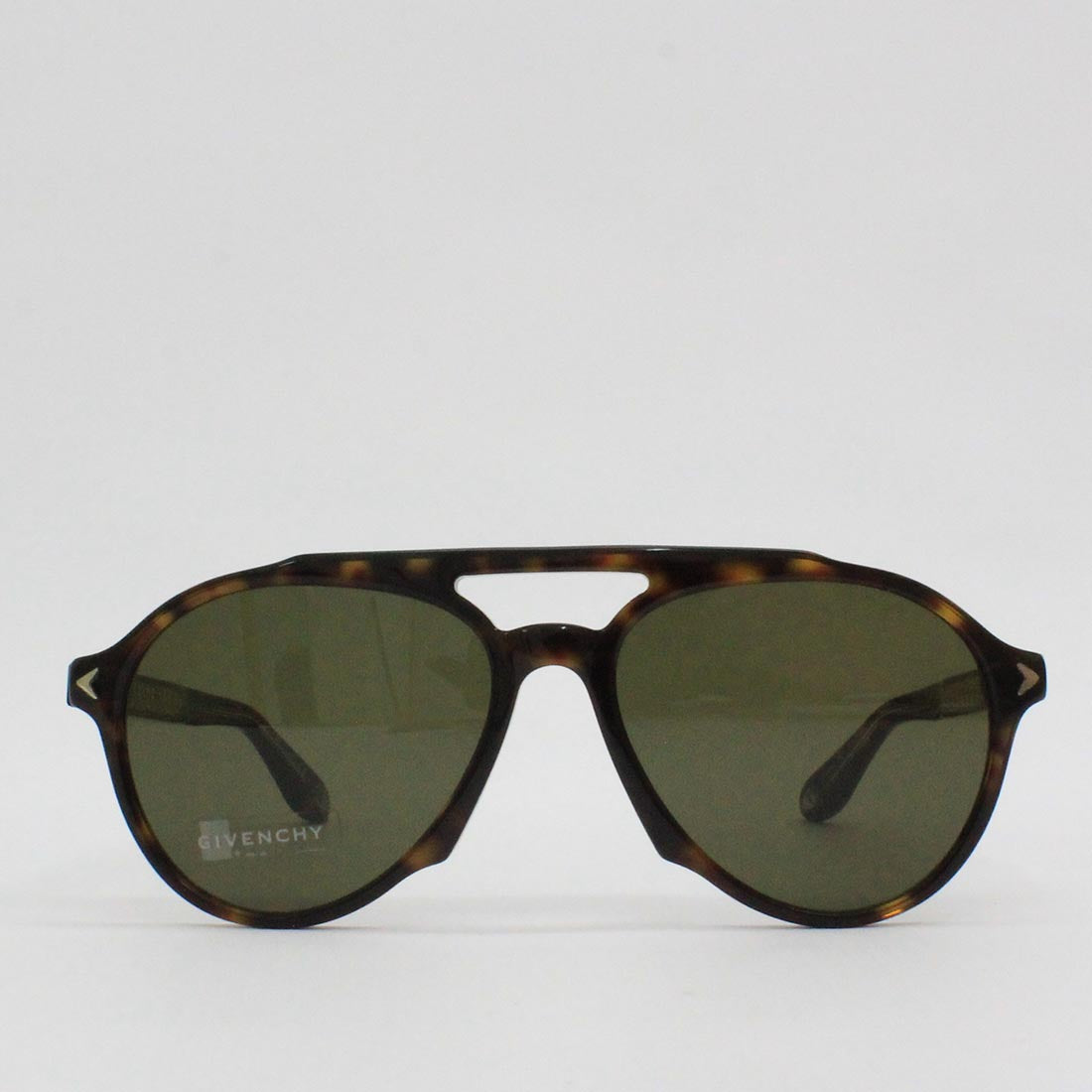 Givenchy 56HA Tortoise Shell Frame Aviator Sunglasses Dark Havana