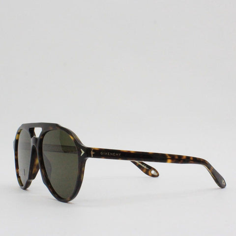 Givenchy 56HA Tortoise Shell Frame Aviator Sunglasses Dark Havana - Pilot Netclothing