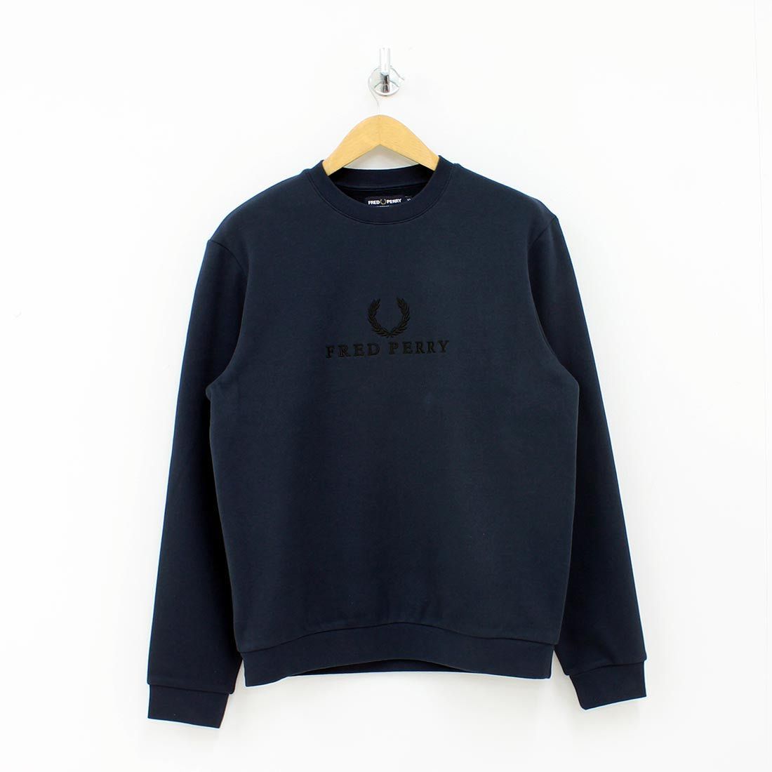 Fred Perry Embroidered Sweat Shirt Navy