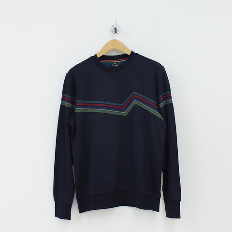 Paul Smith PS Colour Stitch Sweat Shirt Navy
