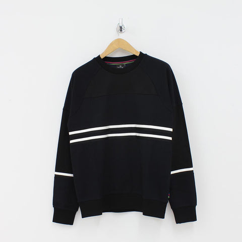 Paul Smith PS Mixed Stripe Sweat Shirt Black