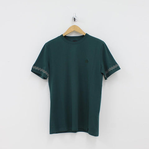 Pretty Green Chevron Detail T-Shirt Green