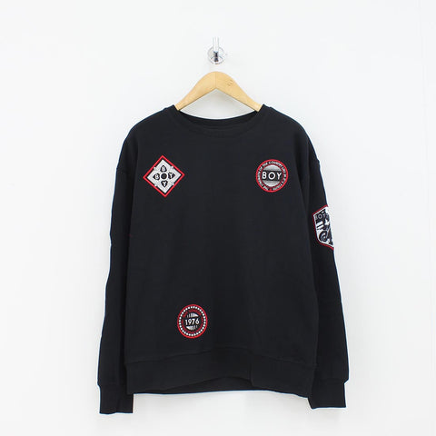 Boy London Boy Patch Sweat Shirt Black