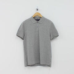 Aquascutum Hill Pique Polo Shirt Grey