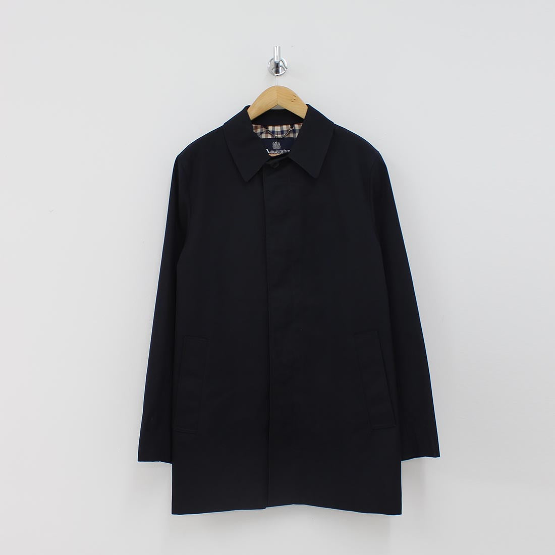 Aquascutum Berkley Raincoat Navy