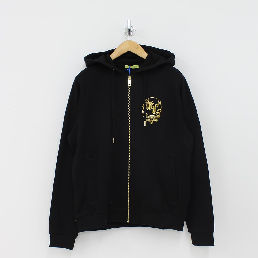 Versace Jeans VJ Logo Hooded Top Black