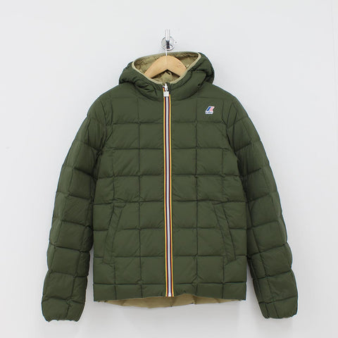 K Way Jacques Thermo Plus Reversible Jacket Green