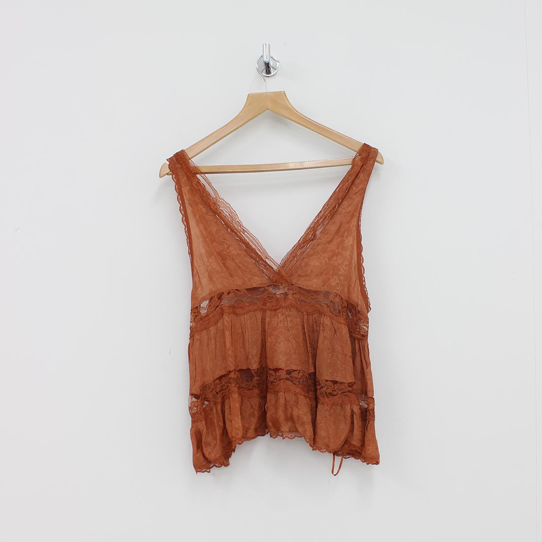 Free People Filly Lace Top Brown