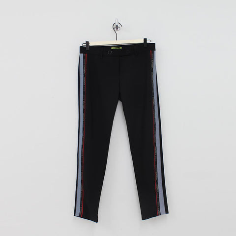 Versace Jeans Side Tape Trousers Black
