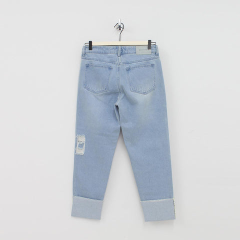Waven Boy Jean With Rip Patch Jeans Blue - Pilot Netclothing