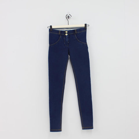 Freddy Mid Rise Skinny Jeans Blue
