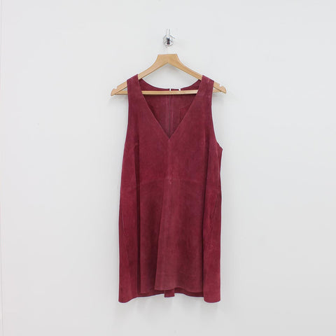 Free People Retro Love Suede Dress Red