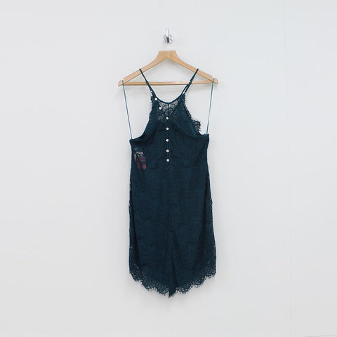 Free People Shes Got It Slip Dress Green