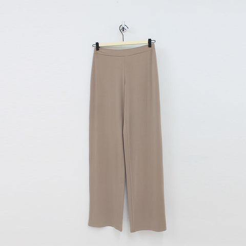 Unique Woman Silky Jersey Wide Pant Taupe