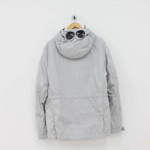 CP Company Nyfoil Quilted Goggle Jacket Silver