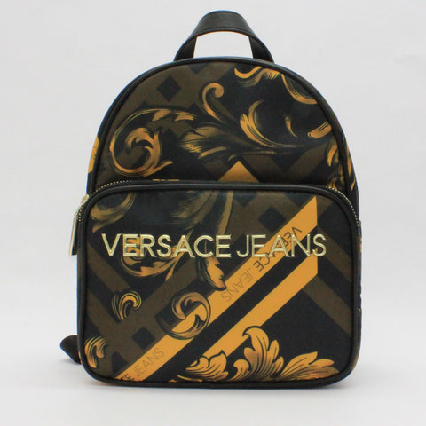 Versace Jeans Classic Pattern Back Pack Gold