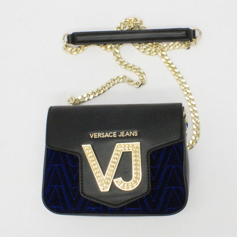 Versace Jeans Velour Cross Body Blue