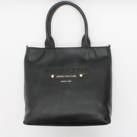 Versace Jeans Gold Logo Shopper Black