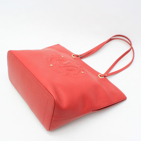Versace Jeans Embossed Logo Shopper Red