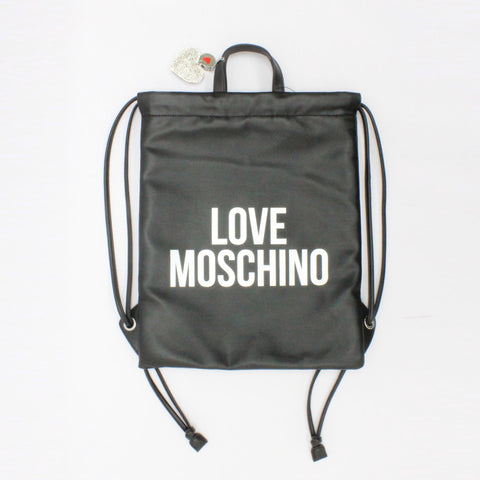 Love Moschino Leatherette Gym Bag Black