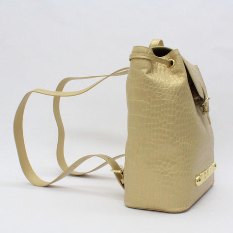Love Moschino Croc Back Pack Gold