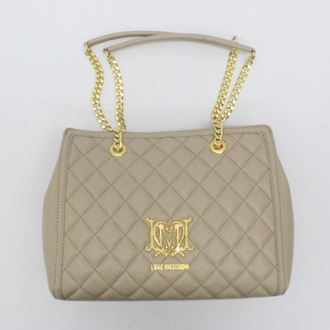Love Moschino Quilted Chain Bag Beige