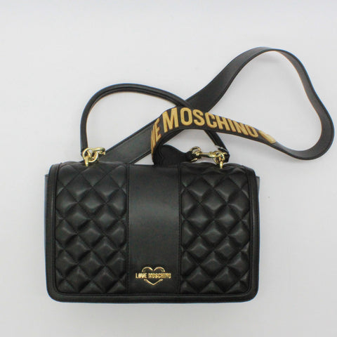 Love Moschino Quilt Cross Body Black