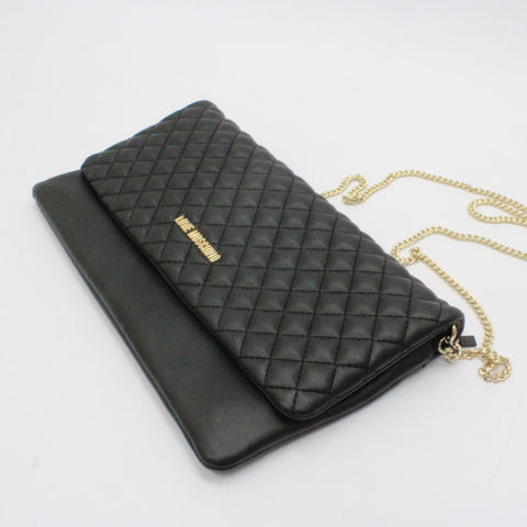 Love Moschino Quilted Evening Bag Black