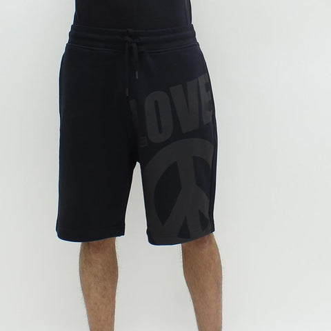 Love Moschino Large Peace n Love Shorts Black - Pilot Netclothing