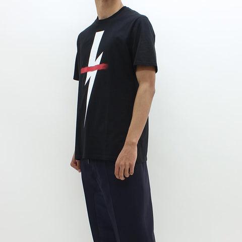 Neil Barrett Brushed Bolt Tee Black - Pilot Netclothing