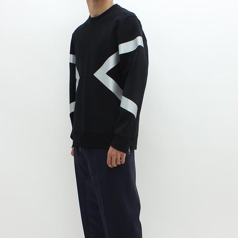 Neil Barrett Abstract Silver Sweat Black - Pilot Netclothing