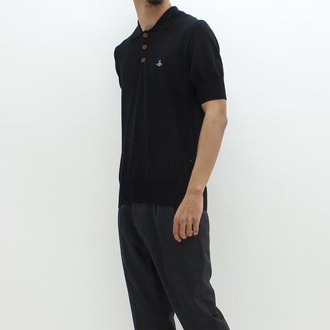 Vivienne Westwood SS Knitted Polo Black