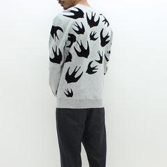 McQ By Alexander McQueen All Over Swallow Sweat Grey