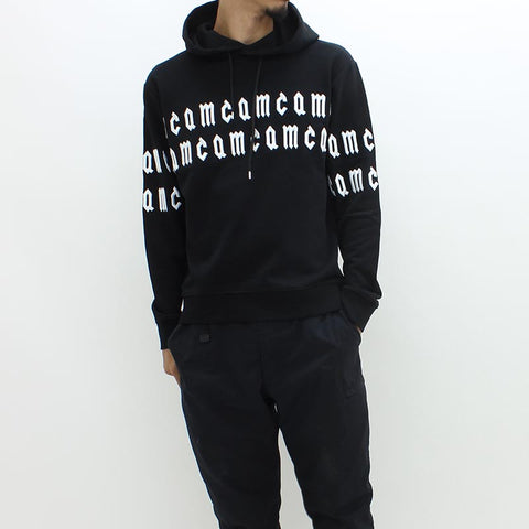 McQ By Alexander McQueen Embroidery Letters Hooded Sweat Black