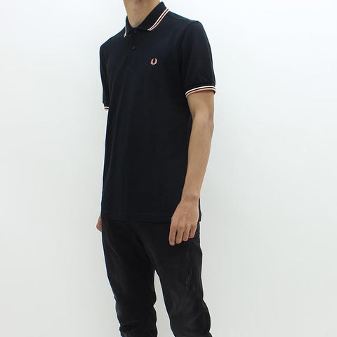 Fred Perry Twin Tipped FP Polo Black