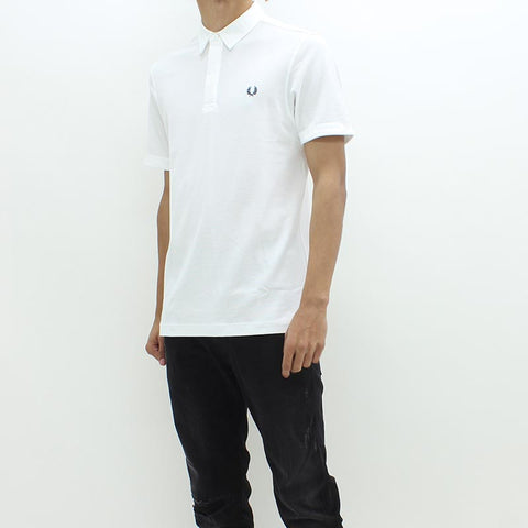 Fred Perry Textured Pique Polo White